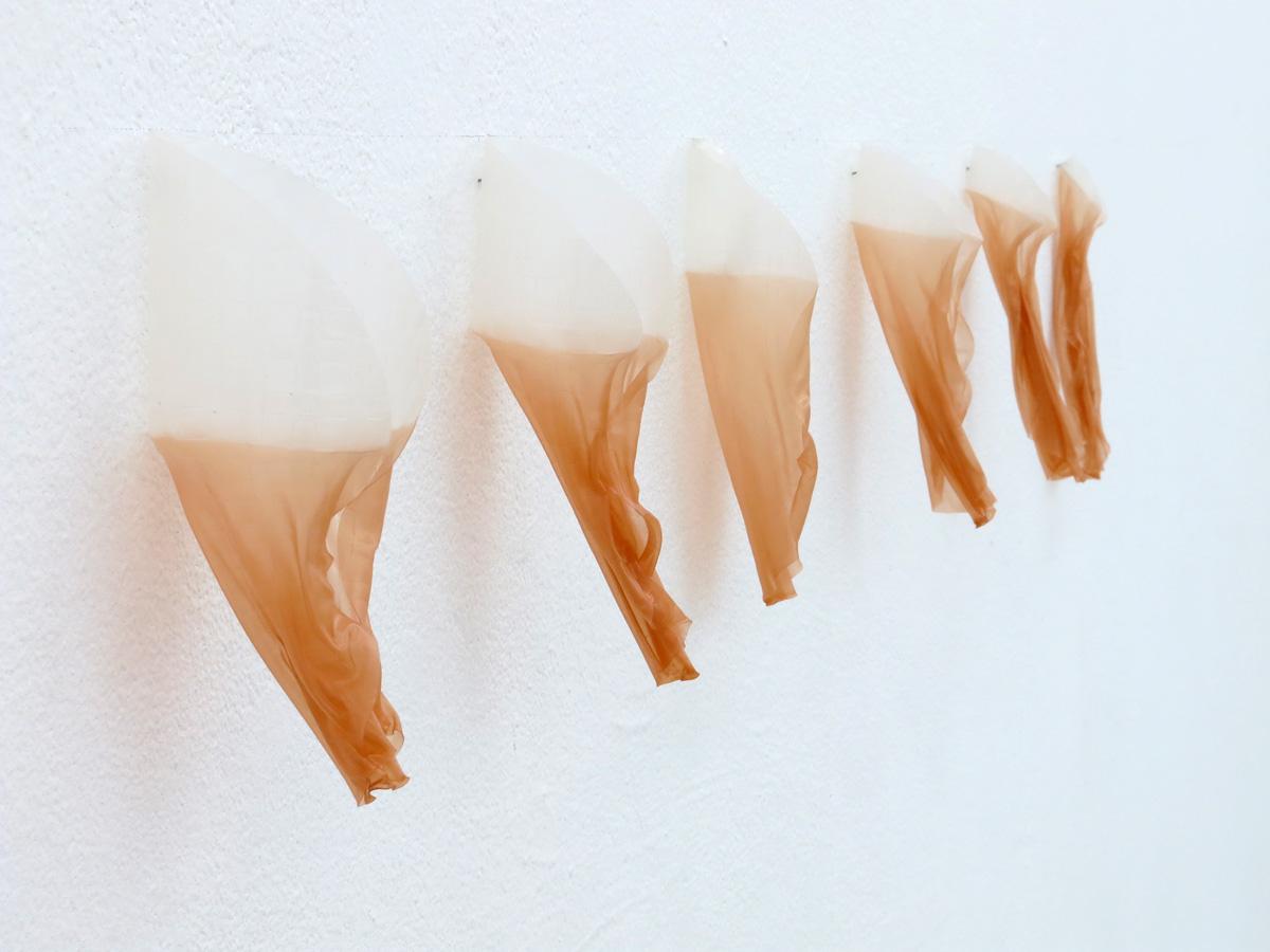 Franziska Baumgartner, eingefärbtes Reispapier